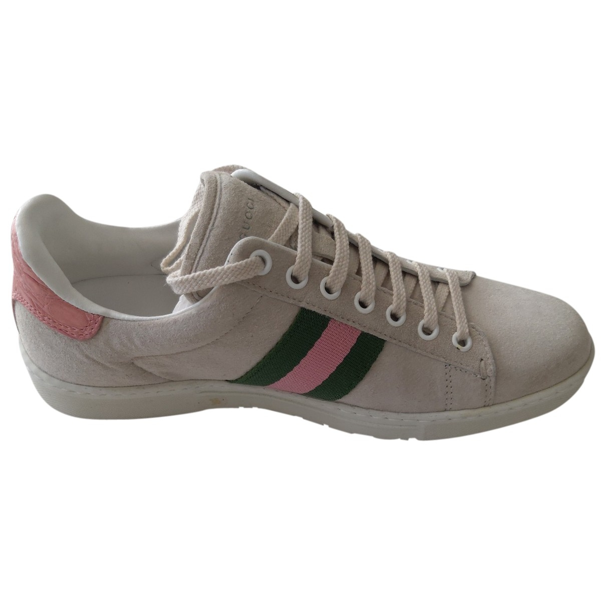 Gucci Ace Grey Leather Trainers for Women 36 EU