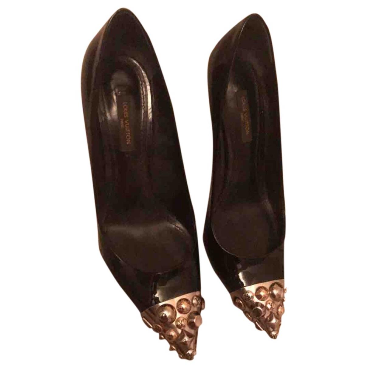Louis Vuitton - Escarpins   pour femme en cuir verni - noir