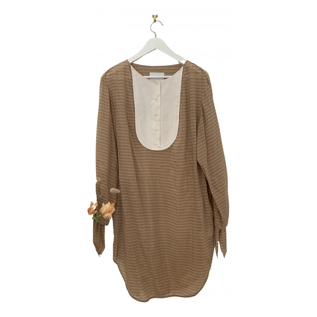 3.1 Phillip Lim \N Kleid in  Braun Baumwolle