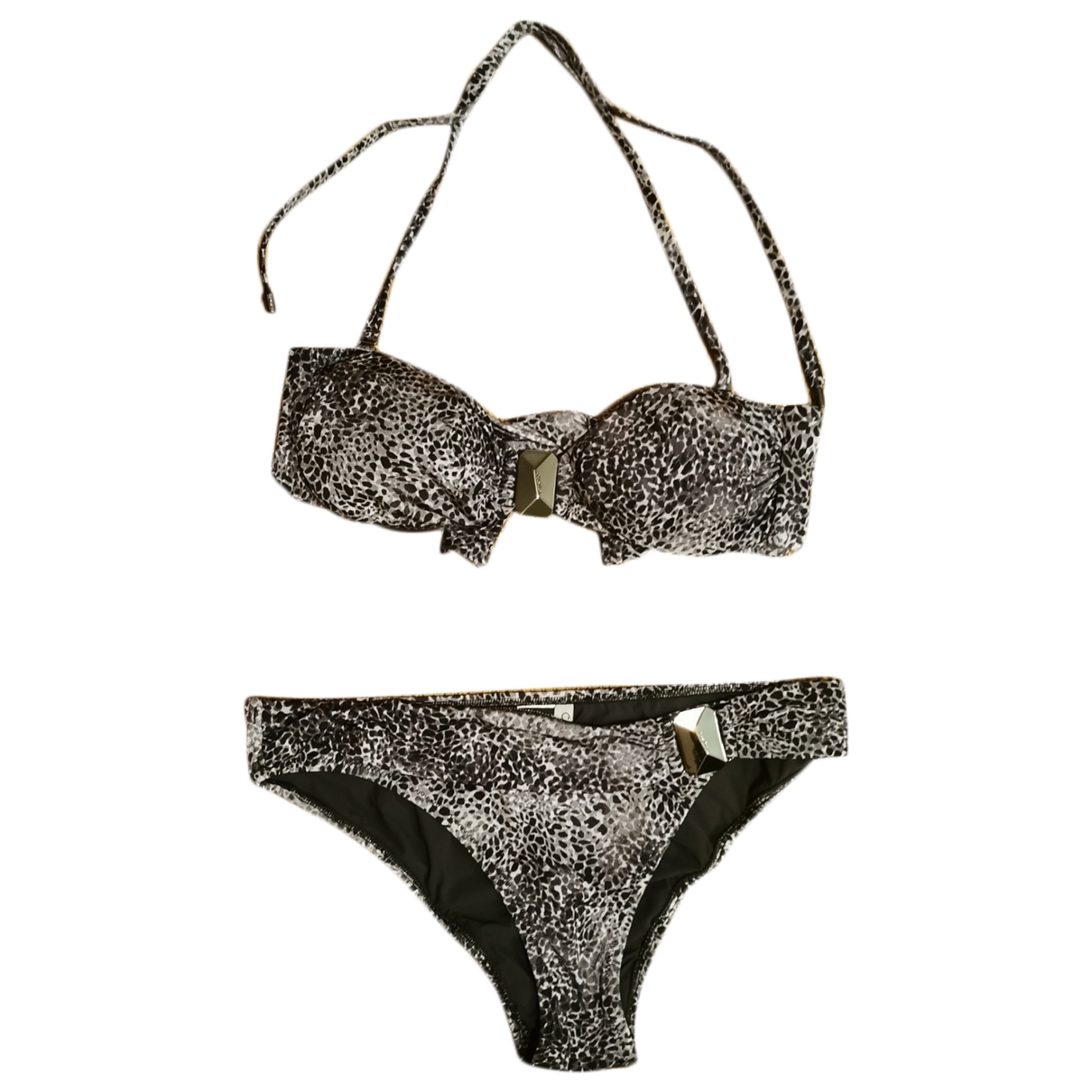 Calvin Klein - Bain   pour femme en lycra - gris