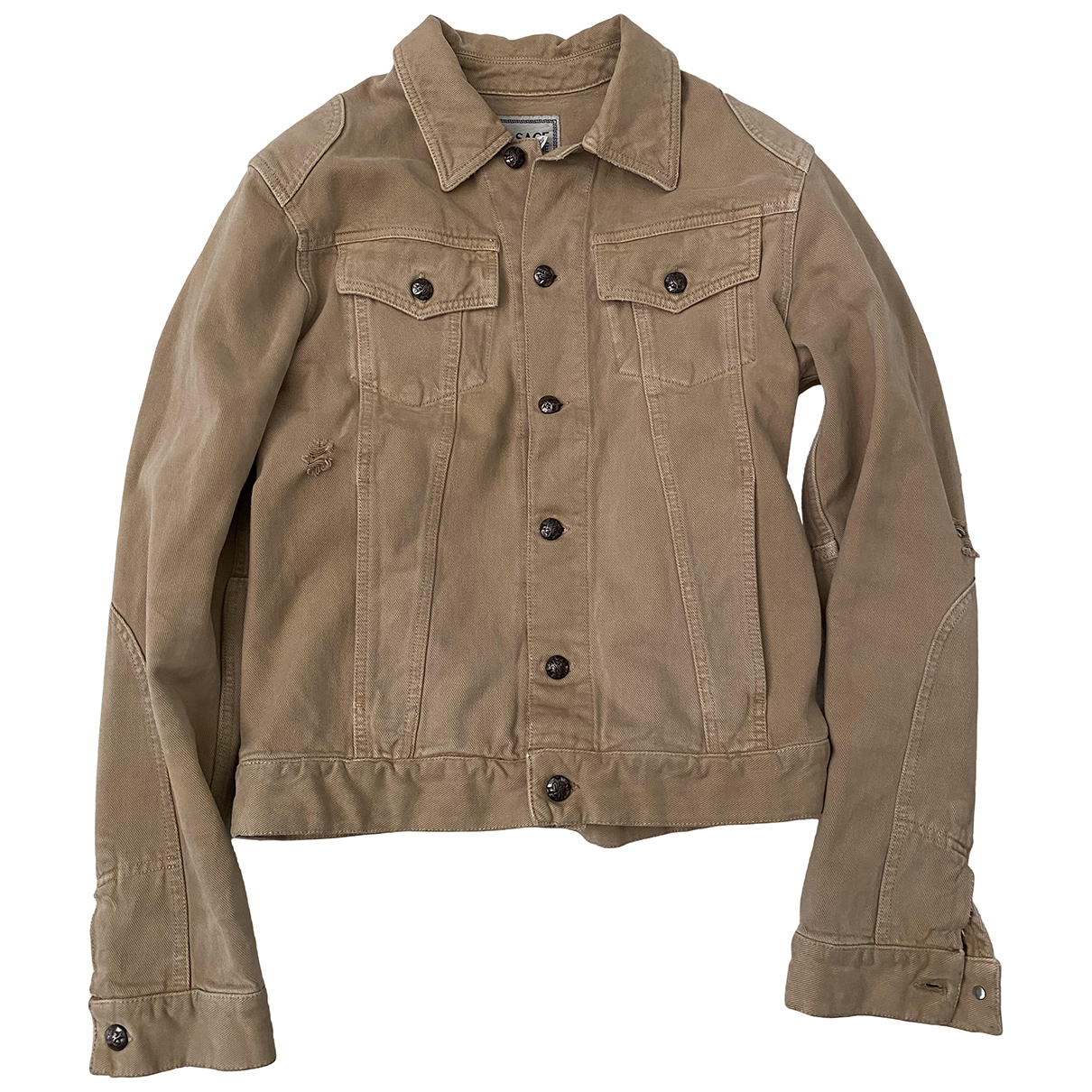 Versace Jeans N Brown Cotton jacket  for Men M International