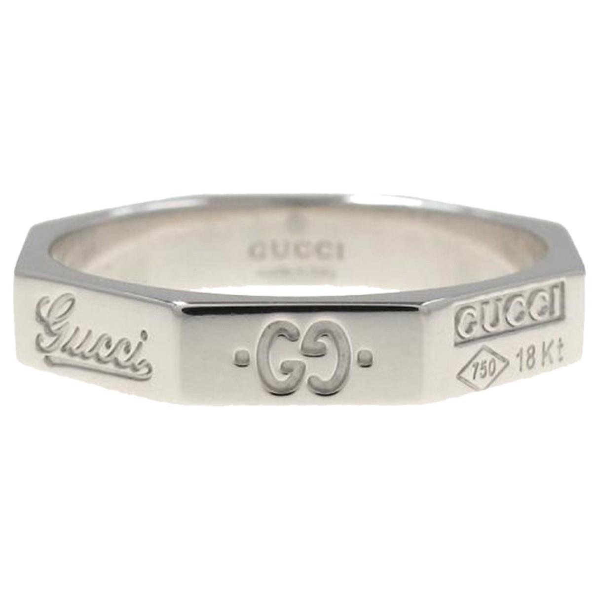 Gucci - Bague   pour femme en or blanc