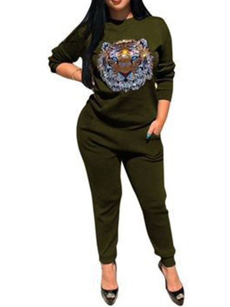 Ericdress Casual Animal Pullover Two Piece Sets