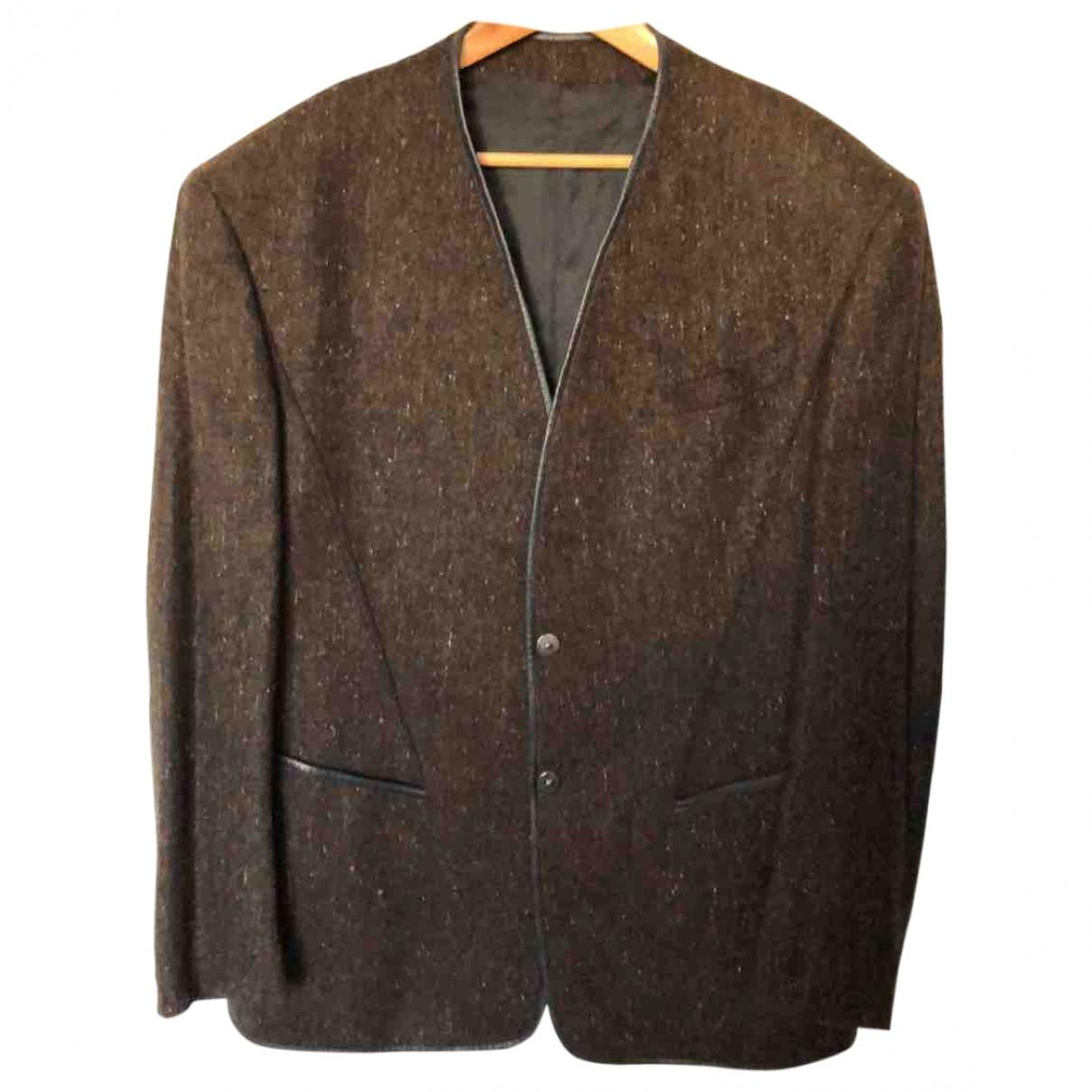 Thierry Mugler \N Anzuege in  Braun Wolle