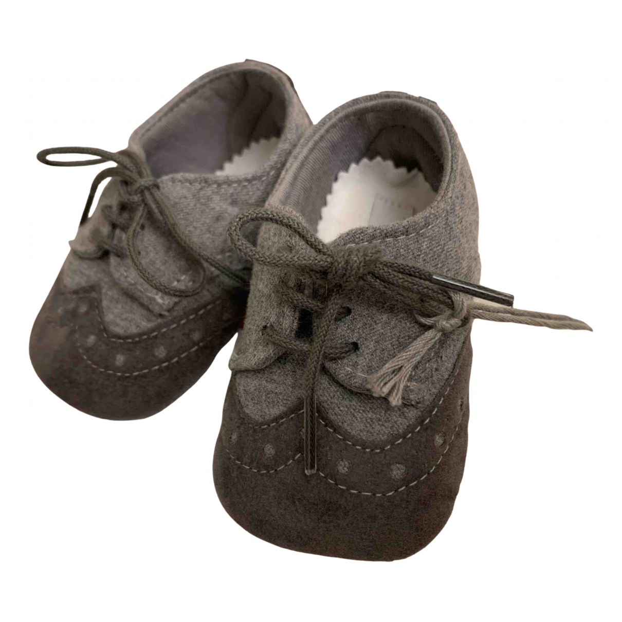 Il Gufo - A lacets   pour enfant en suede - gris