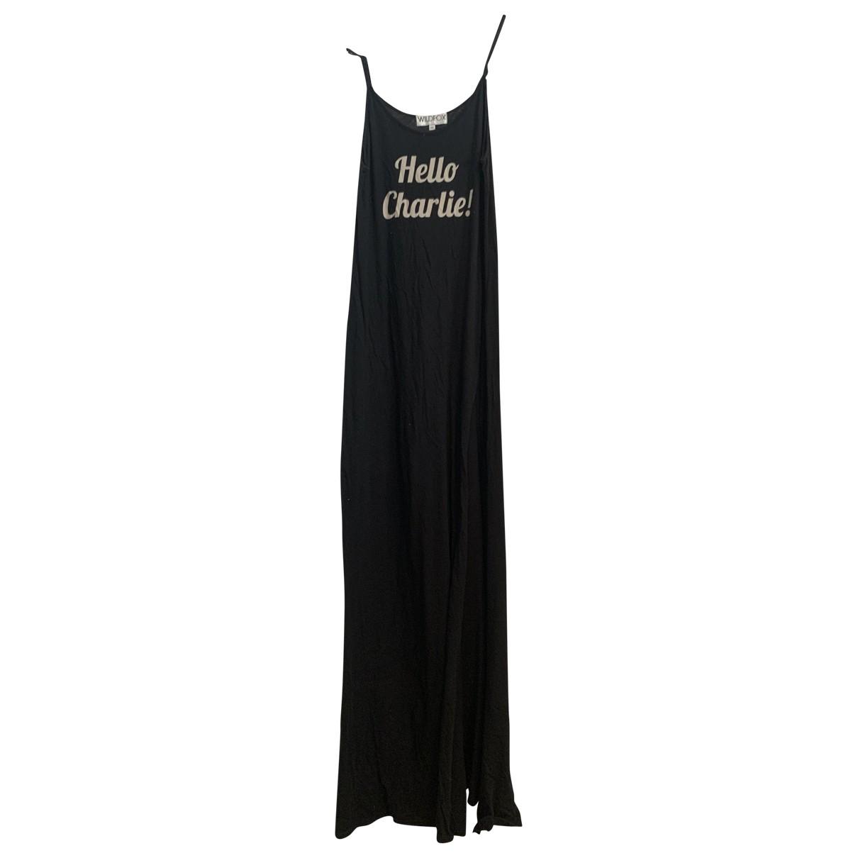 Wildfox \N Kleid in  Schwarz Baumwolle