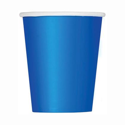 Party Paper Cup Solid Color 9oz Royal Blue 8Pcs