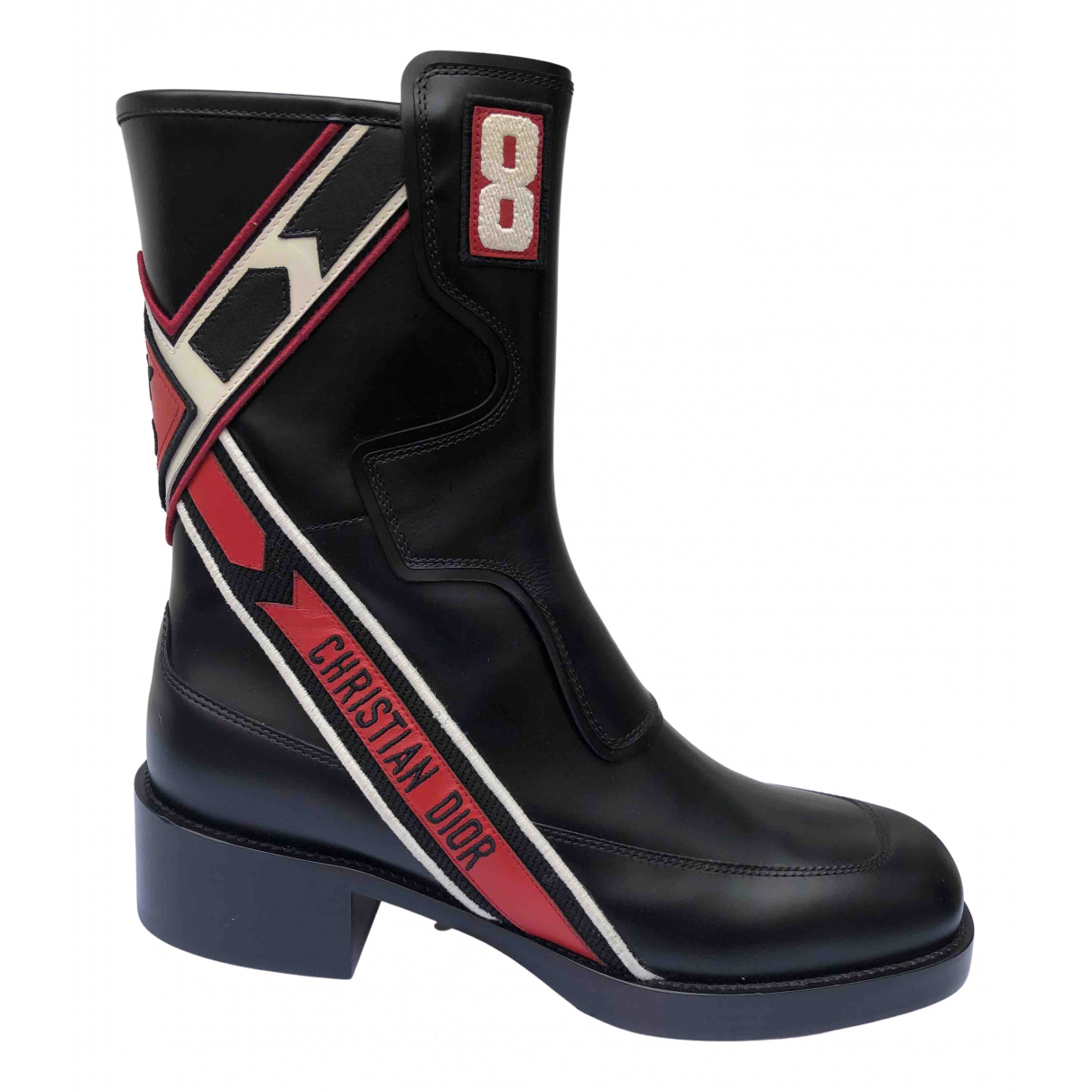 Dior - Boots Diorider pour femme en cuir - multicolore