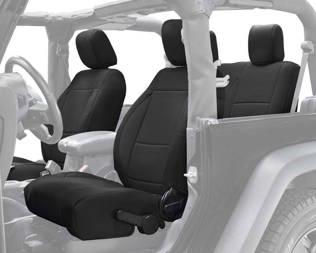Overland Vehicle System 11010101 Neoprene Seat Covers Black Black Jeep Wrangler JK 2 Door 13-18