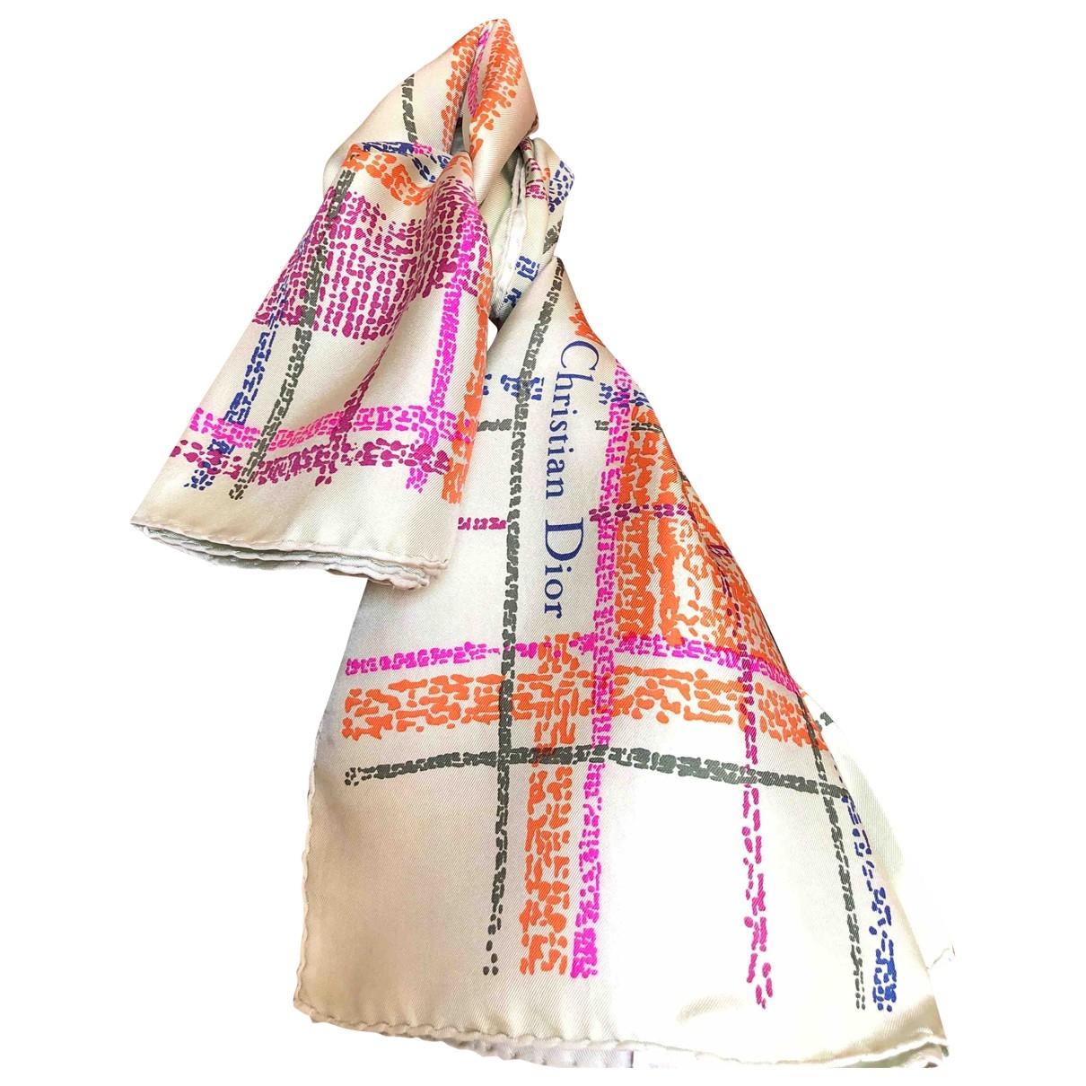 Dior \N Green Silk Silk handkerchief for Women \N