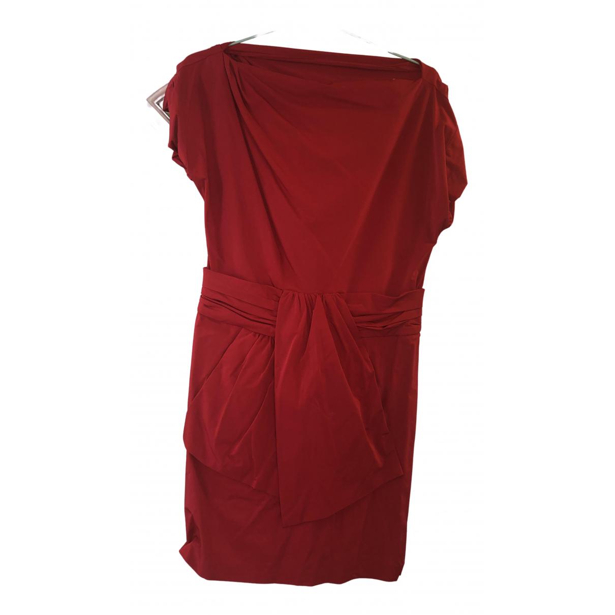 Diane Von Furstenberg \N Kleid in  Rot Polyester