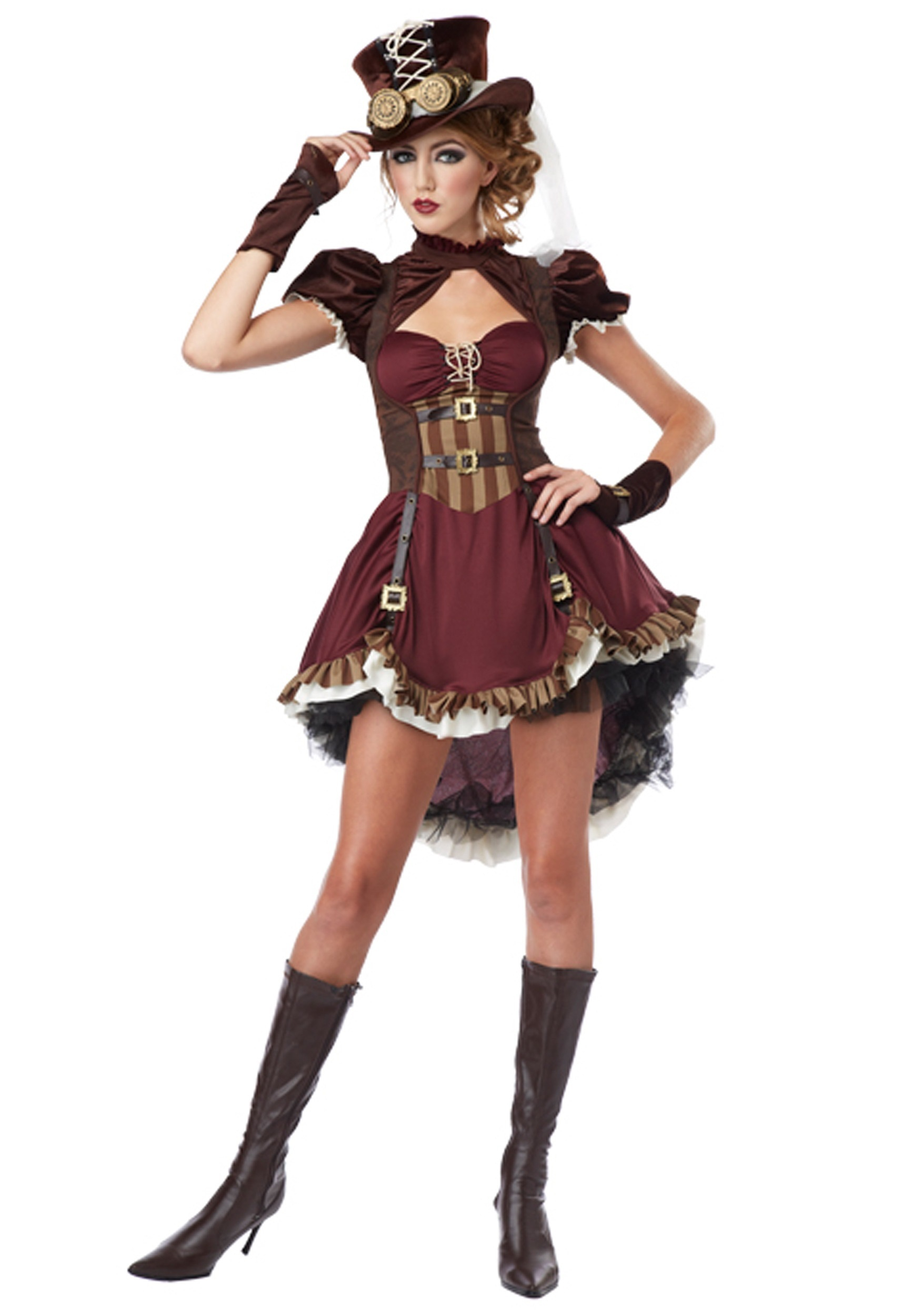 Steampunk Lady Plus Size Costume for Women   Decade Costumes