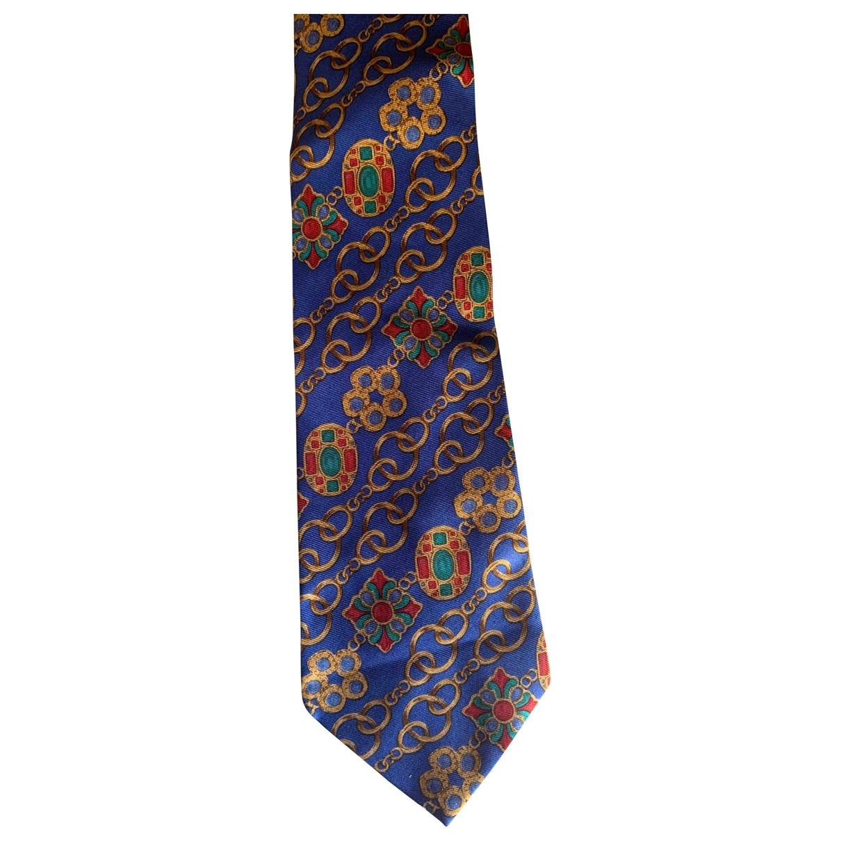 Chanel - Cravates   pour homme en soie - bleu