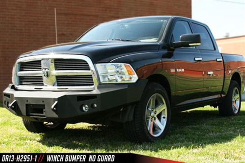 Fab Fours DR13-H2951-B 13-18 Ram 1500 Front Winch Bumper w/No Grill Guard Bare