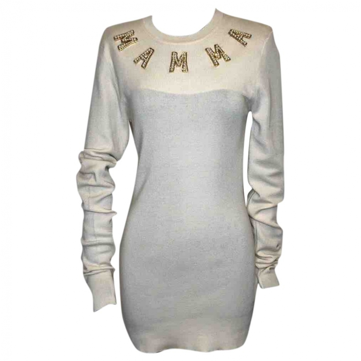 Dolce & Gabbana \N White Cashmere Knitwear for Women 46 IT