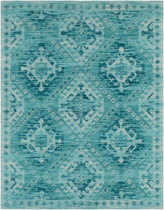 Amsterdam AMS-1002 8' x 10' Rectangle Traditional Rugs in Aqua  Teal