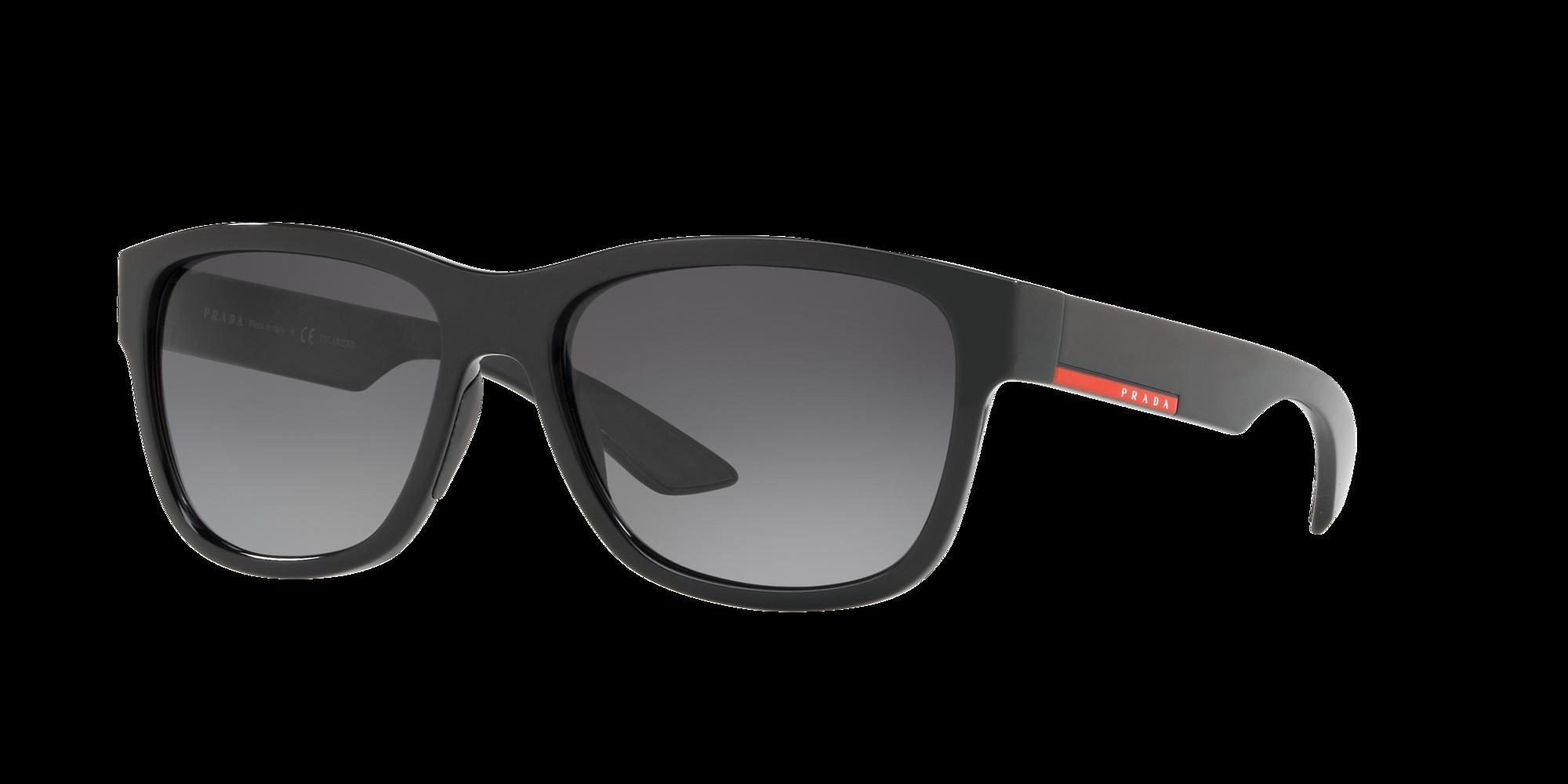 Prada Linea Rossa Unisex  PS 03QS -  Frame color: Negro, Lens color: Gris-Negro, Size 57-17/145