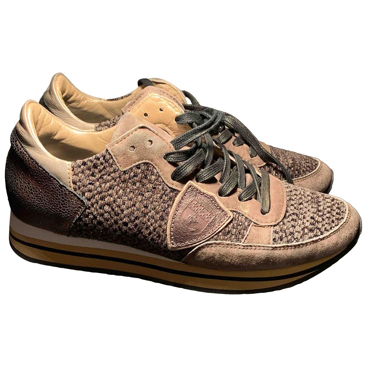 Philippe Model \N Sneakers in  Braun Leder