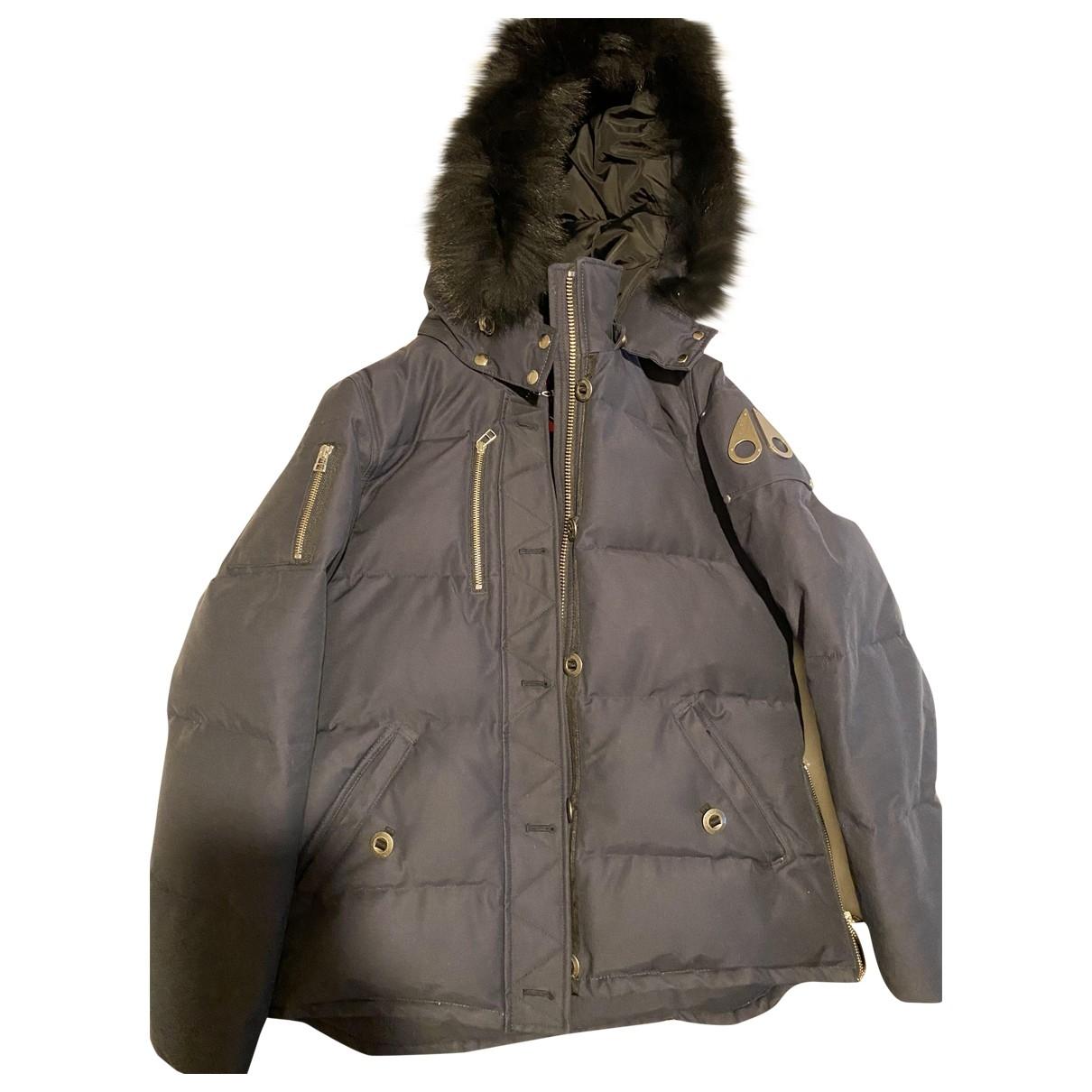 Moose Knuckles - Manteau   pour femme en coton - bleu