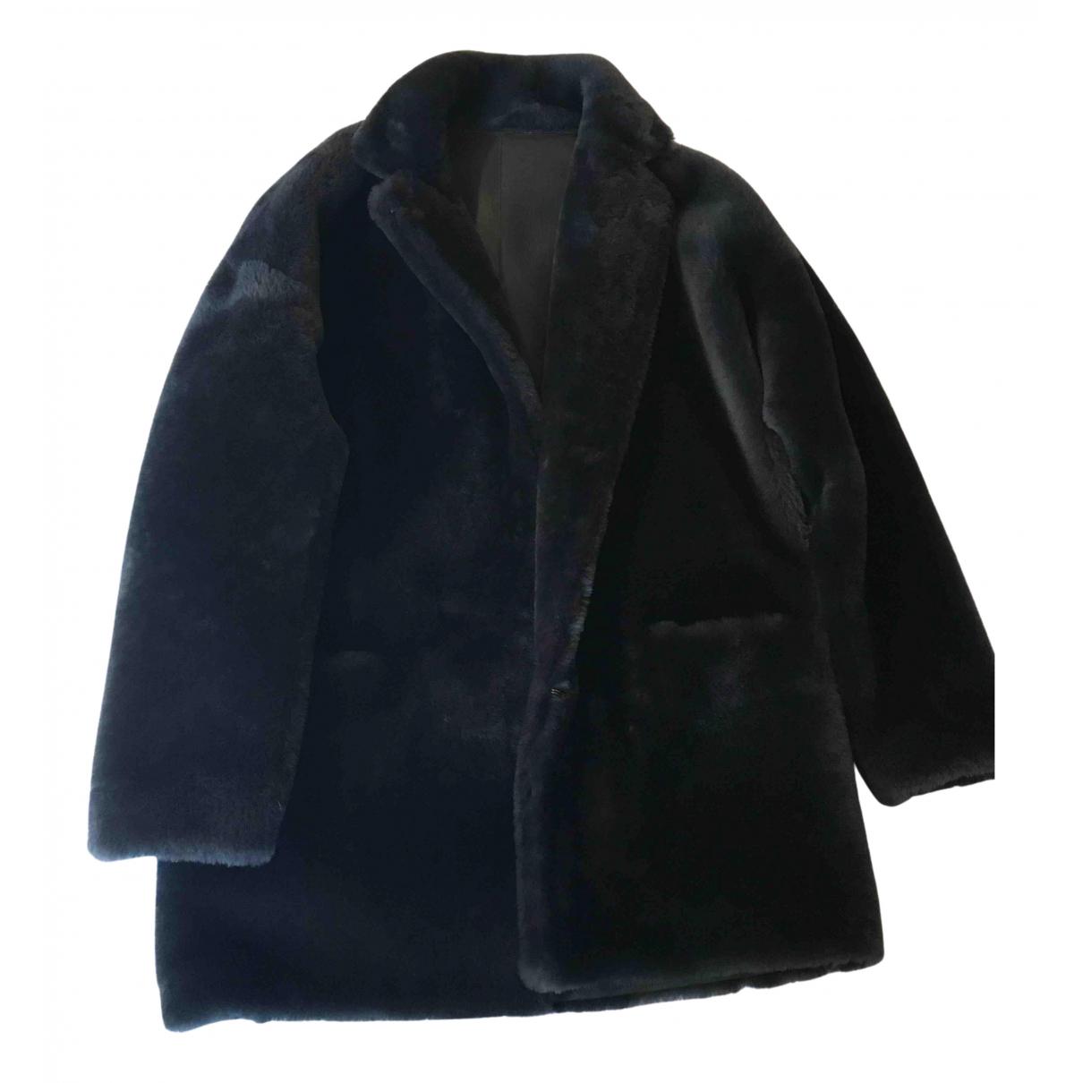 Sprung Freres - Manteau   pour femme en cuir - gris