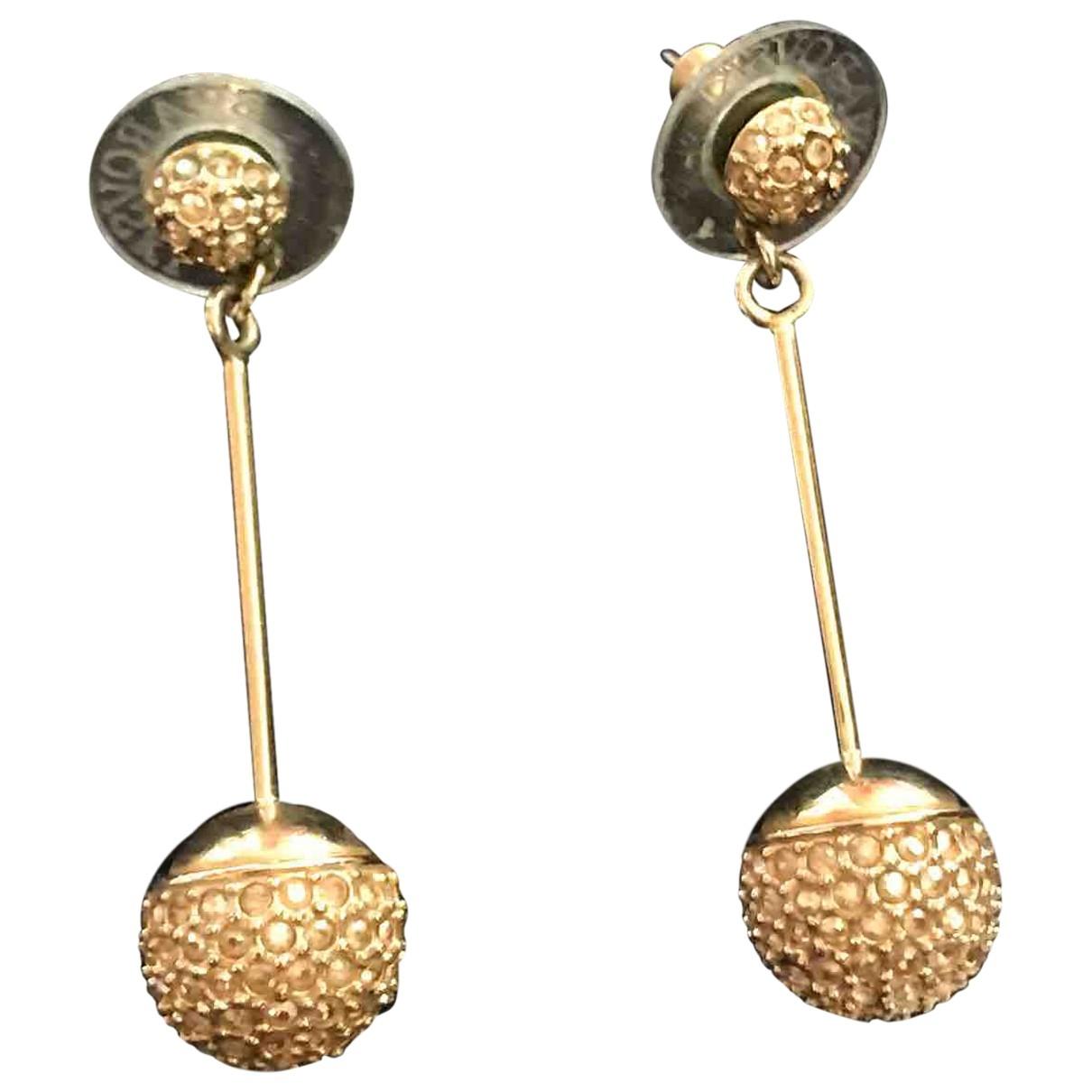 Swarovski - Boucles doreilles   pour femme en vermeil - dore