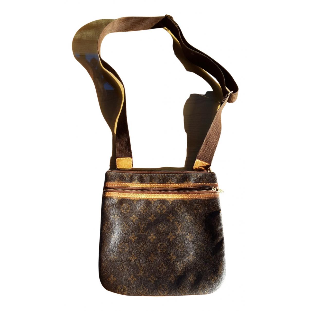Louis Vuitton - Petite maroquinerie Bosphore pour homme en toile - marron