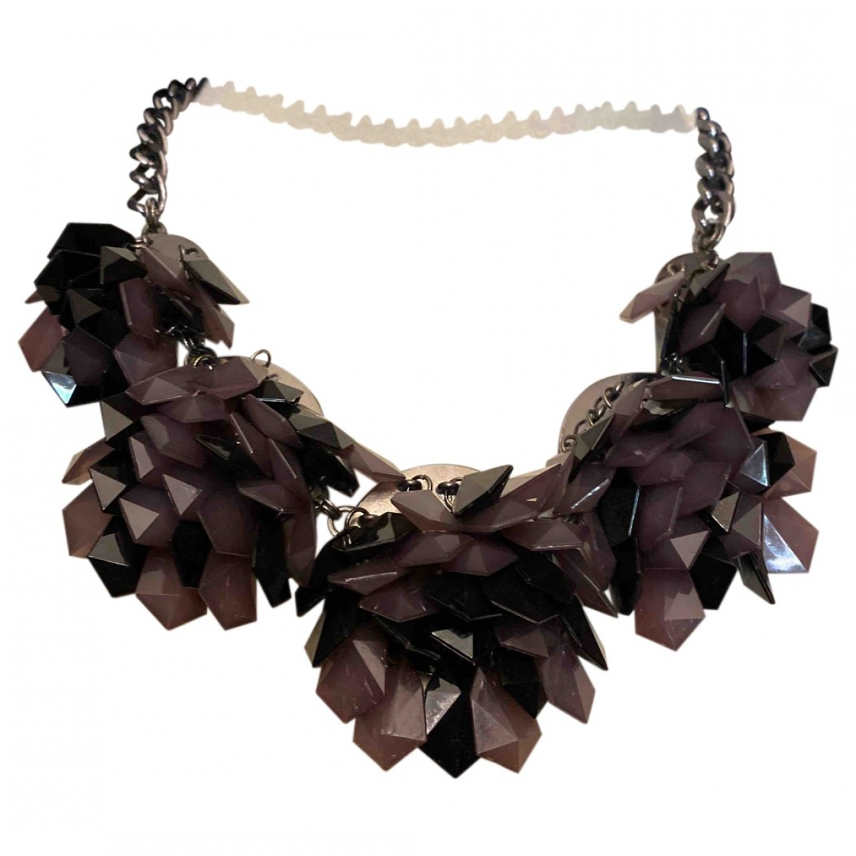 - Collier Motifs Floraux pour femme en metal - gris