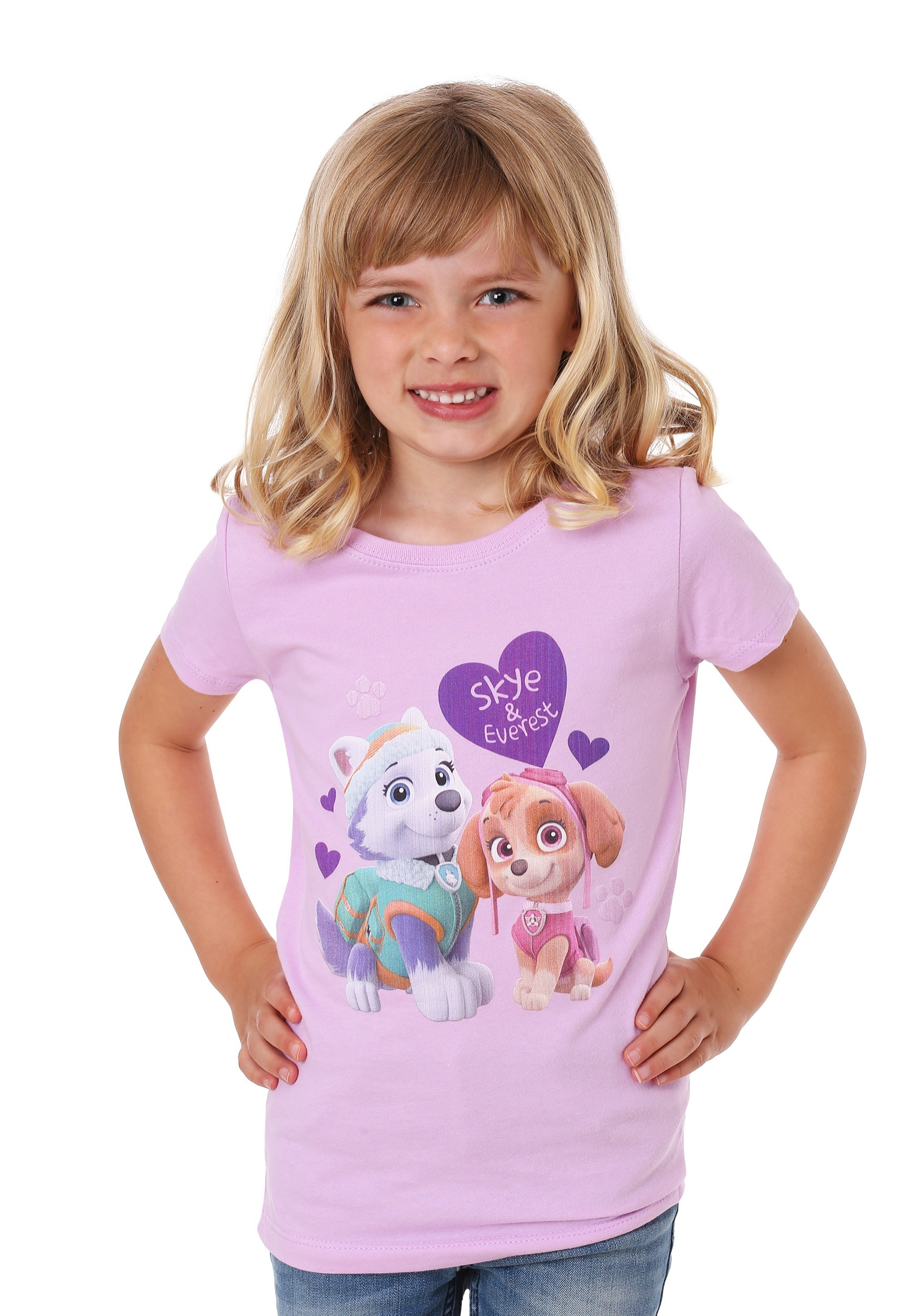 Girl's Kids Paw Patrol Everest and Skye T-Shirt