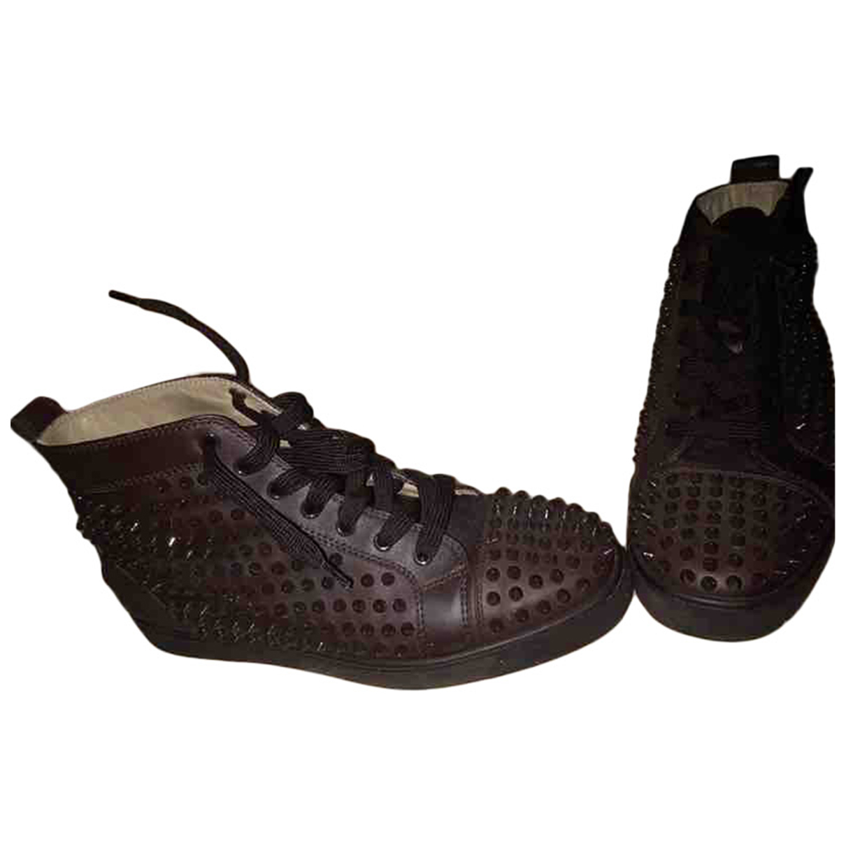 Christian Louboutin Louis Sneakers in  Braun Leder