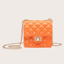 Mini Twist Lock Chain Crossbody Bag