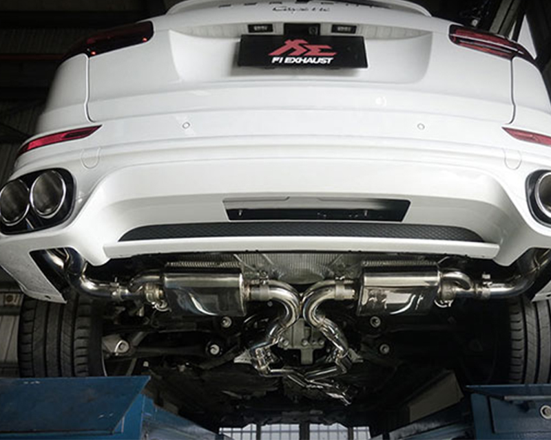 FI Exhaust PH-958T-CBV + PH-9581-LKP + TIP-958-S Mid X Pipe Valvetronic Muffler Quad Tips Porsche 958.1 Cayenne Turbo 4.8T 11-17