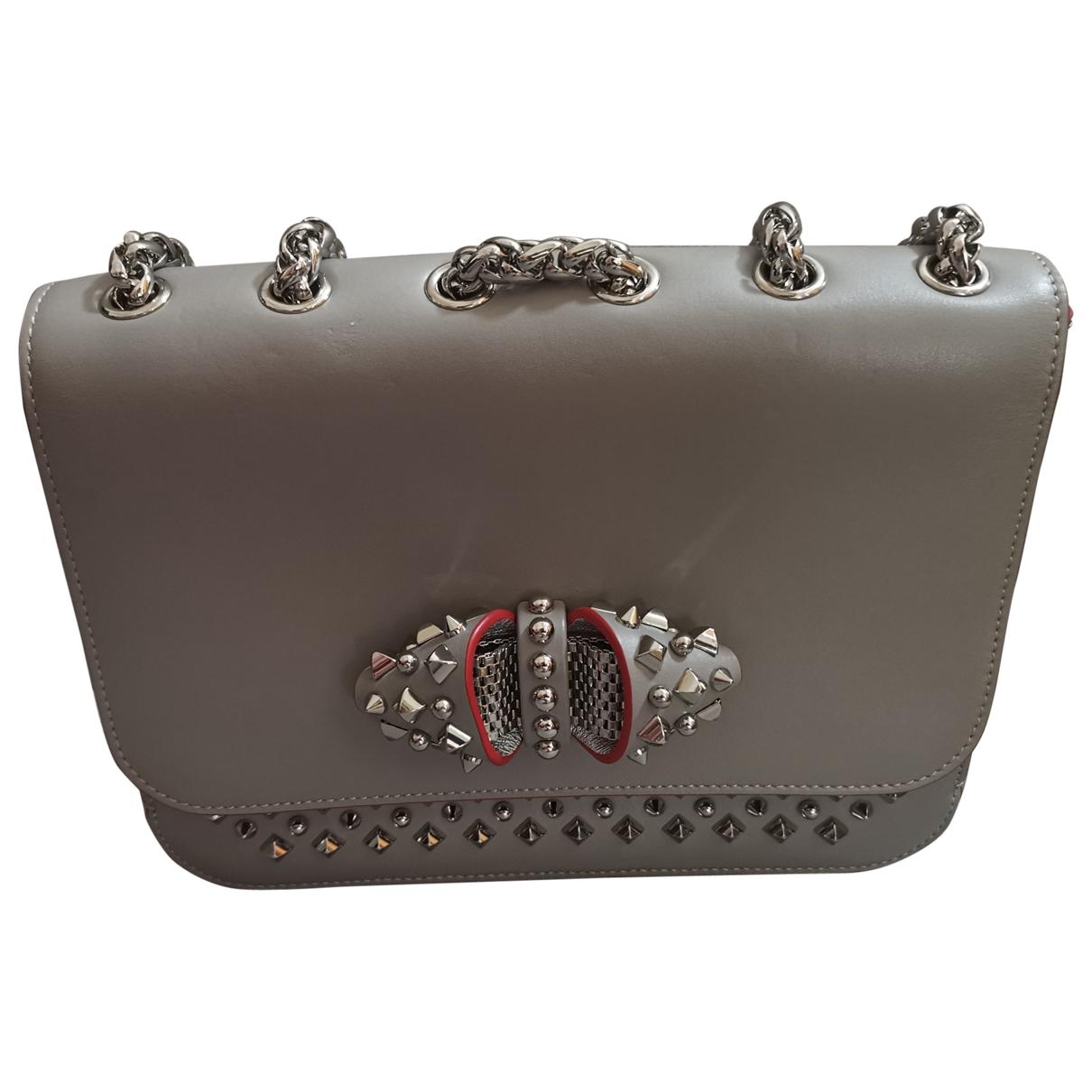 Christian Louboutin Sweet Charity Handtasche in  Grau Leder