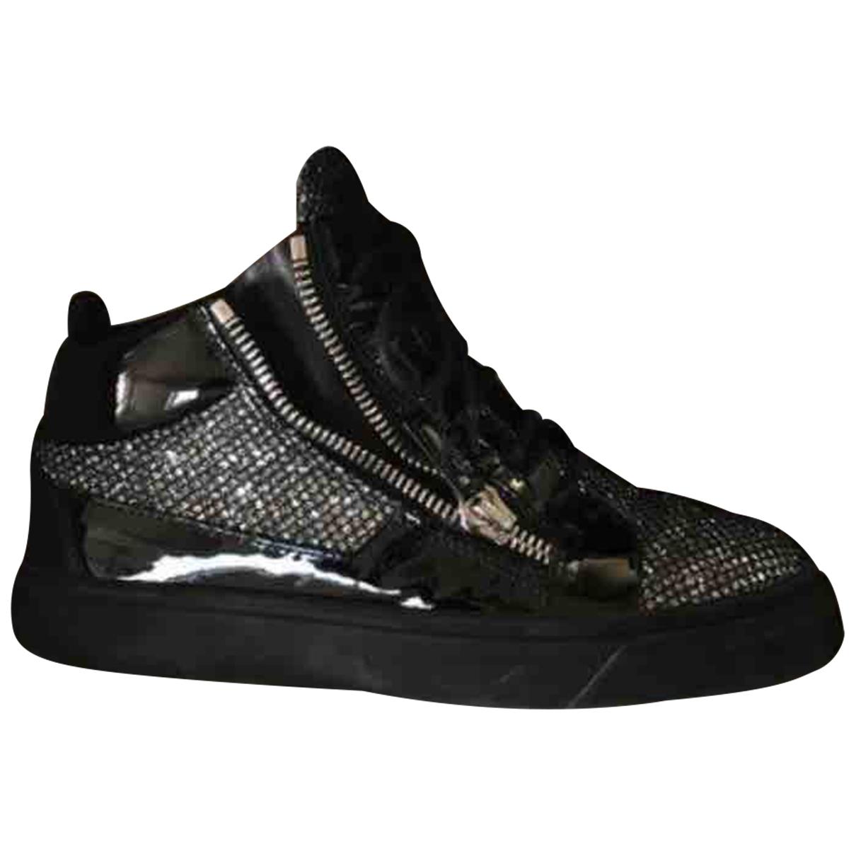 Giuseppe Zanotti Donna Sneakers in  Silber Leder