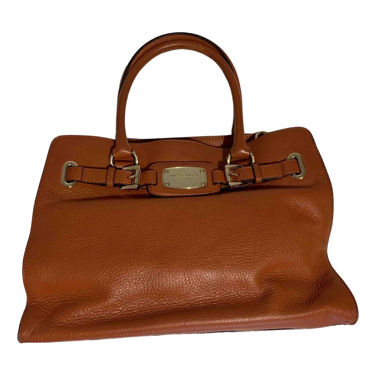Michael Kors Hamilton Orange Leather handbag for Women N
