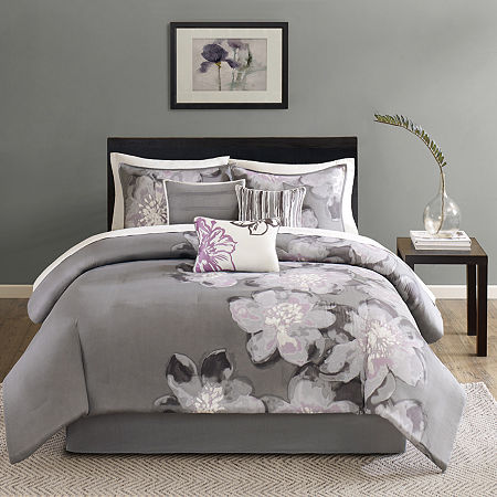 Madison Park Alicia 7-pc. Comforter Set, One Size , Gray