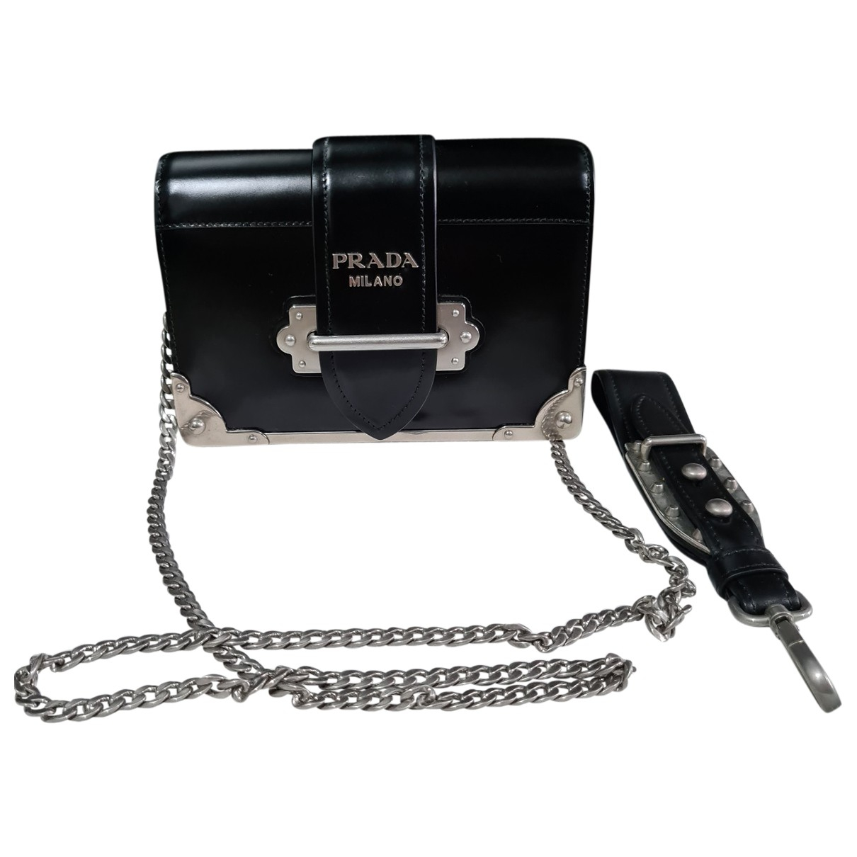 Prada Cahier Black Leather handbag for Women \N