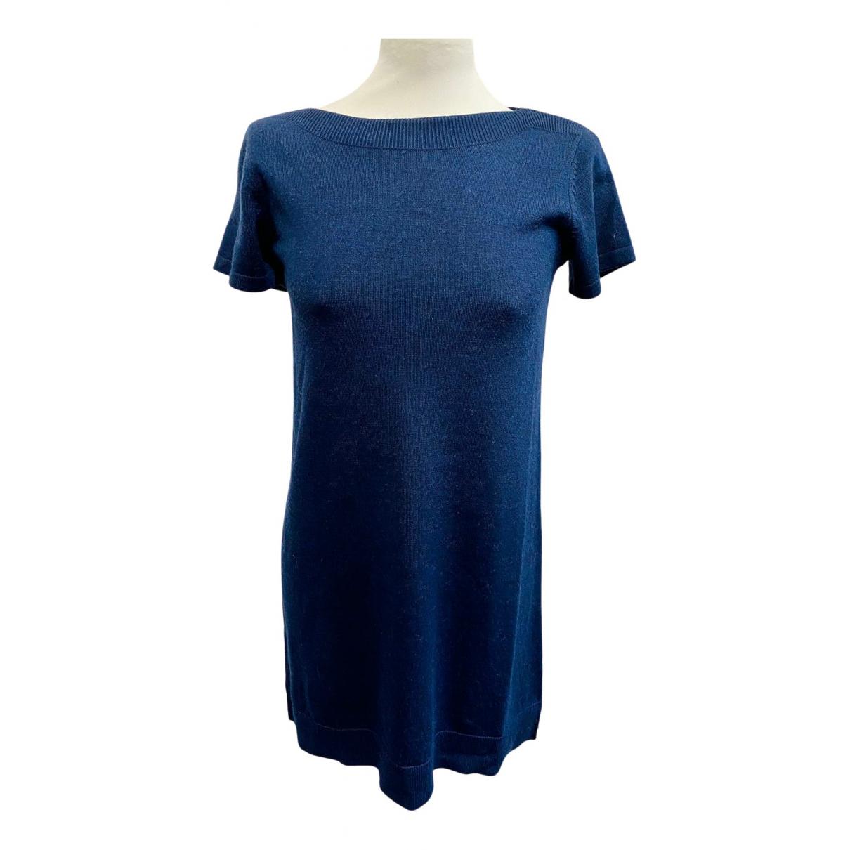 Apc N Blue Wool dress for Women XS International