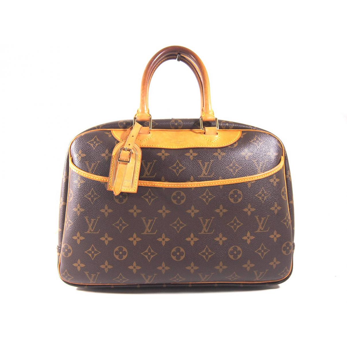 Louis Vuitton Deauville Handtasche in  Braun Leinen