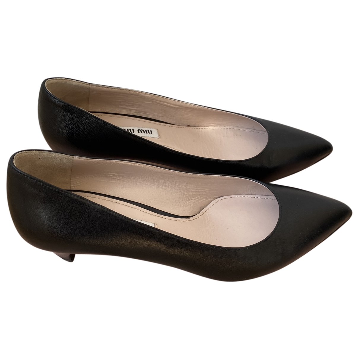 Miu Miu \N Pumps in  Schwarz Leder