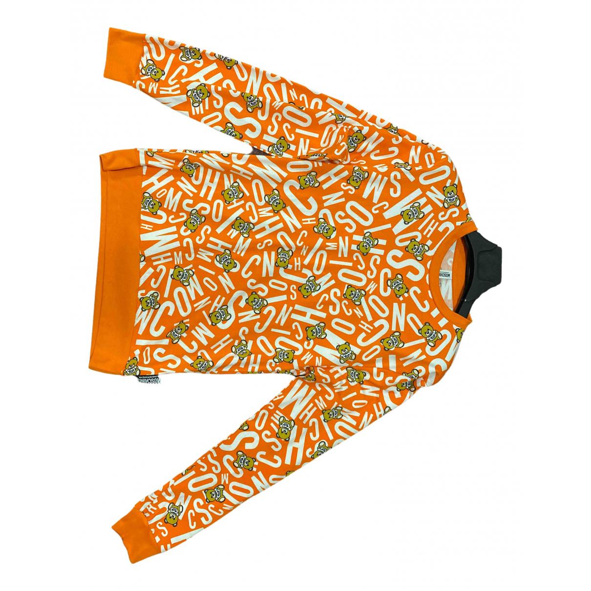 Moschino \N Pullover.Westen.Sweatshirts  in  Orange Baumwolle
