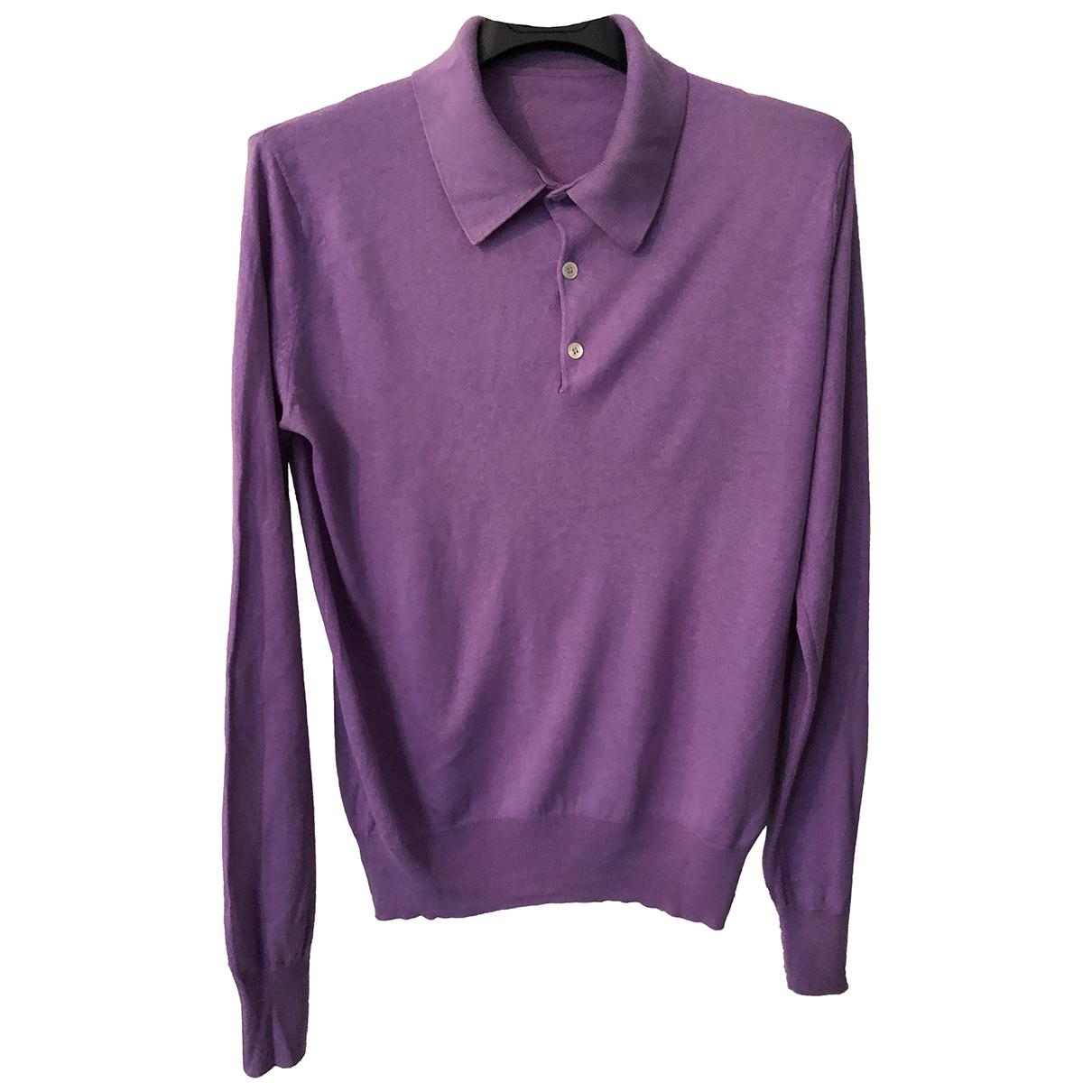 - Pull   pour femme en soie - violet