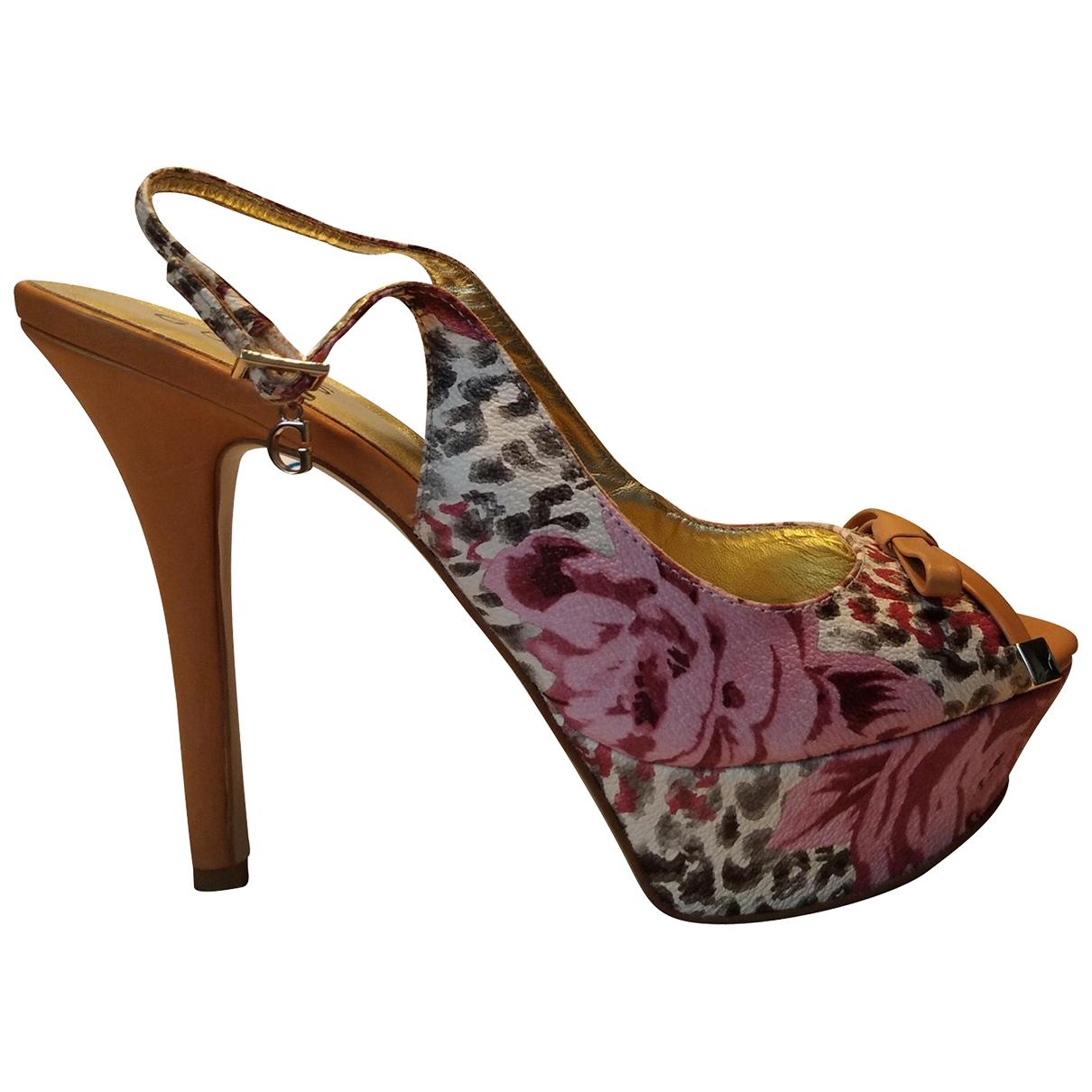 Guess \N Purple Leather Heels for Women 40 IT