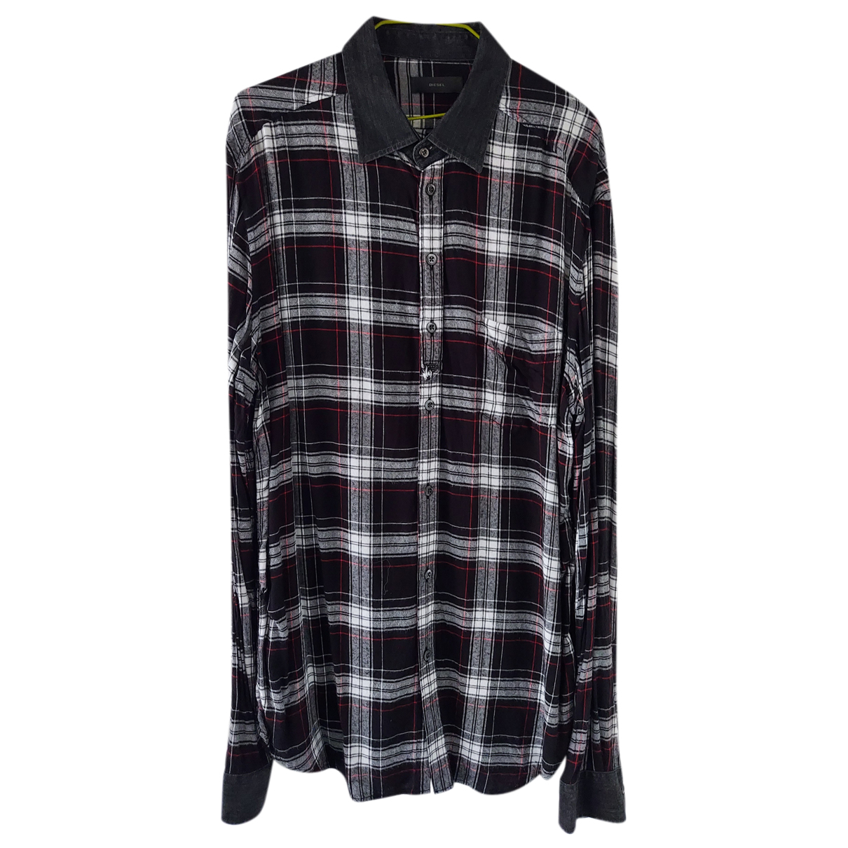 Diesel - Chemises   pour homme en coton - noir