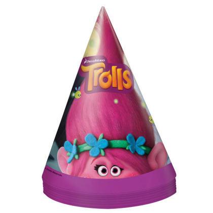 Trolls 8 Party Hats Pour la fête d'anniversaire