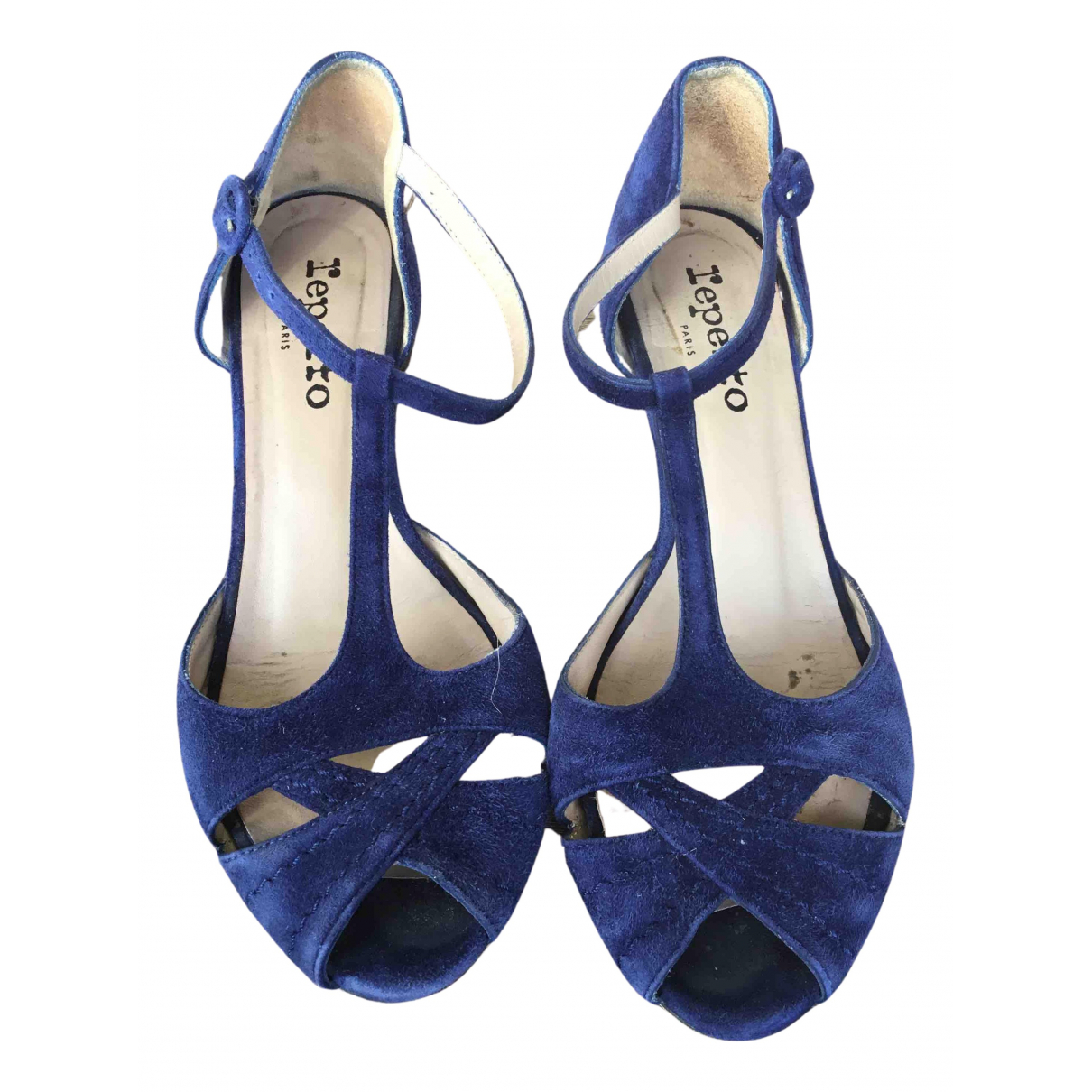 Repetto - Escarpins   pour femme en suede - bleu