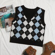 Pulloverweste mit V-Ausschnitt