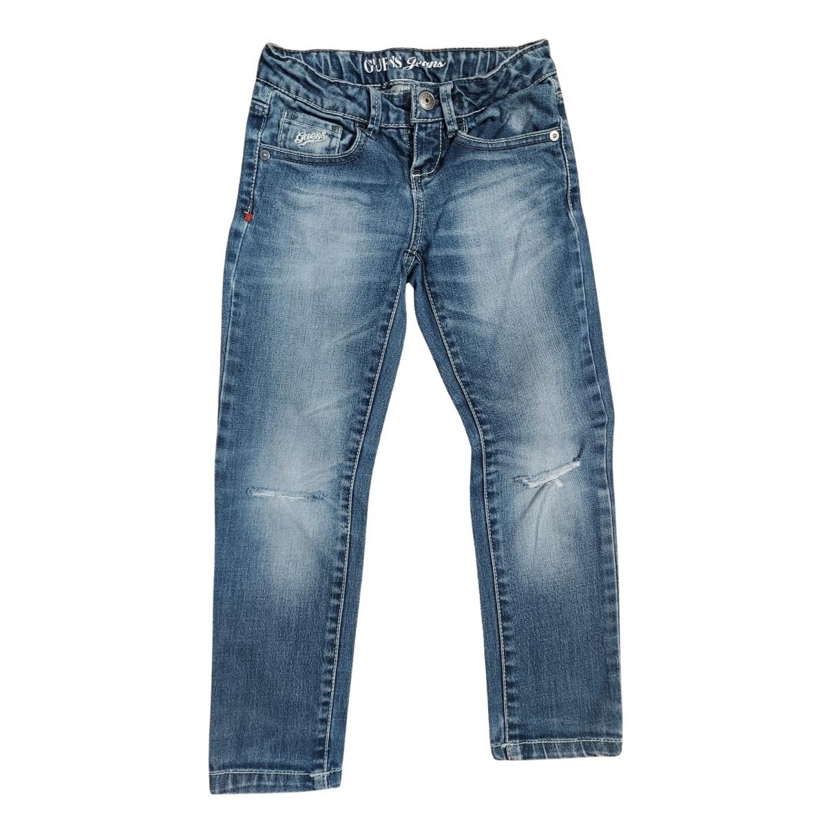 Guess - Pantalon   pour enfant en denim - bleu