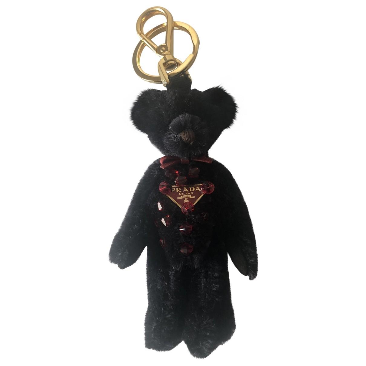 Prada \N Black Cloth Bag charms for Women \N