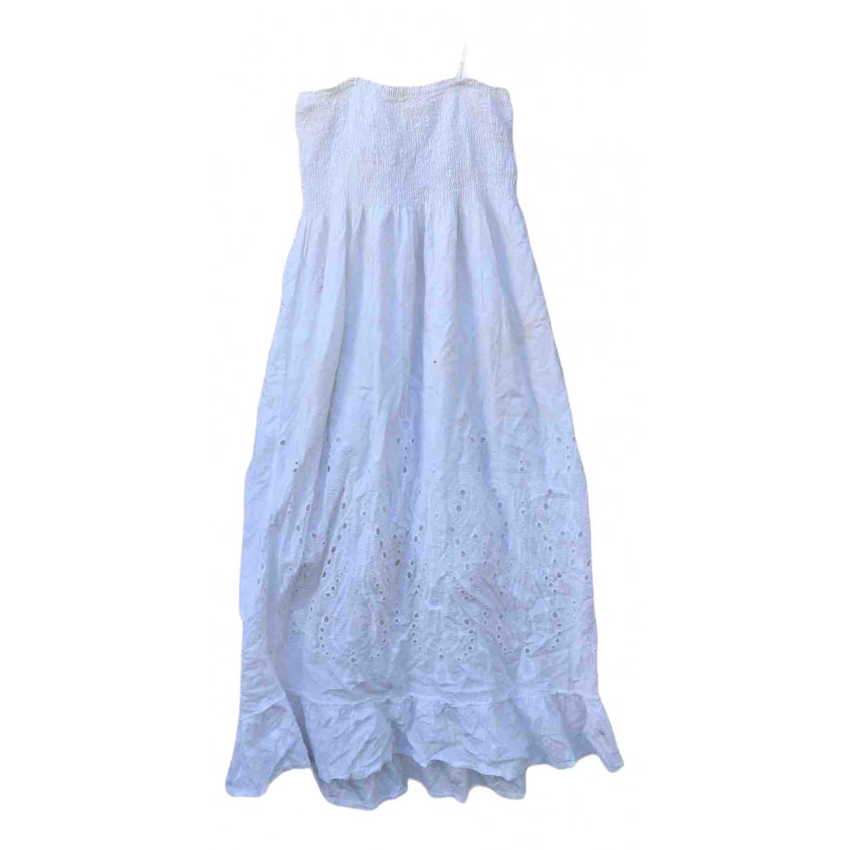 Ibiza \N Kleid in  Weiss Baumwolle