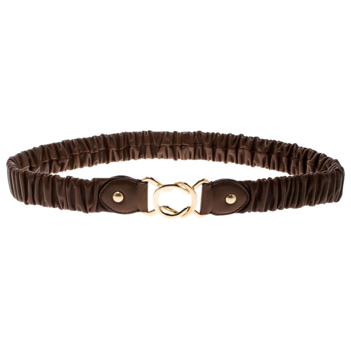 Miu Miu \N Brown Leather belt for Women 75 cm
